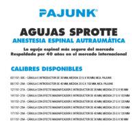 SPROTTE AGUJAS ESPINALES PAJUNK. Anestesia Regional Espinal